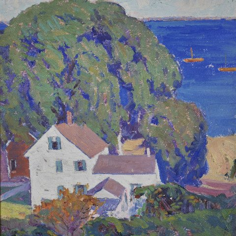A Glimpse of Provincetown Harbor by George Gustav Adomeit