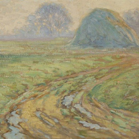 Landscape with Haystack on the Old John D.Rockefeller Property, Cleveland by George Gustav Adomeit
