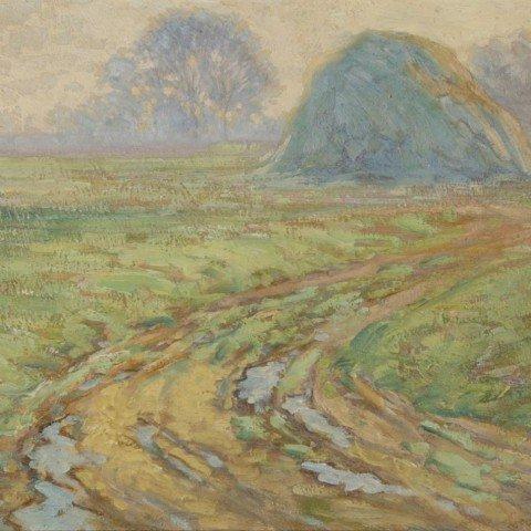 Landscape with Haystack on the Old John D.Rockefeller Property, Cleveland