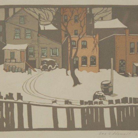 George Adomeit - First Snow by George Gustav Adomeit