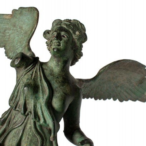 Grand Tour Bronze Figure of Nike, or Winged Victory