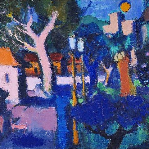 Night Scene by Gustav Likan