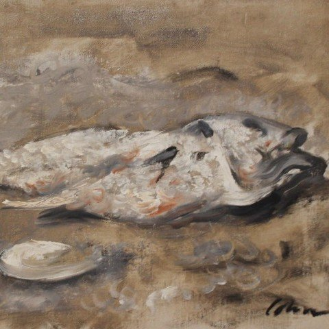 Still Life, Fish and Oyster Shell