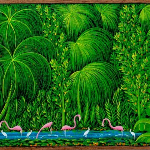 Henri Robert Bresil - Flamingos in the Jungle