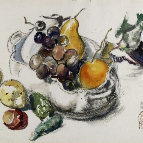 Still Life, Bowl of Fruit