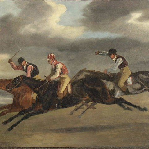 Attributed to Samuel Henry Alken-Racing Scene