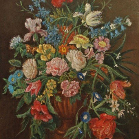 Still Life of Flowers in Dutch Style