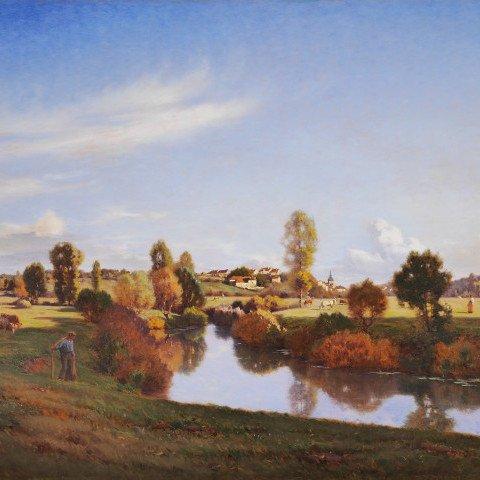 La Saône dans la prairie de Jonvelle by Jean Ferdinand Monchablon