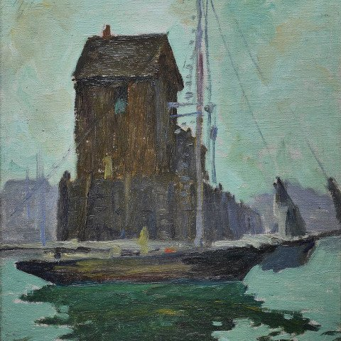 Boat at the End of a Jetty by Jonas Lie