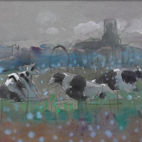 Cows at Pasture II