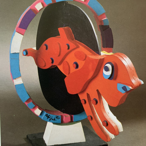 Karel Christiaan Appel - Dog Through Hoop