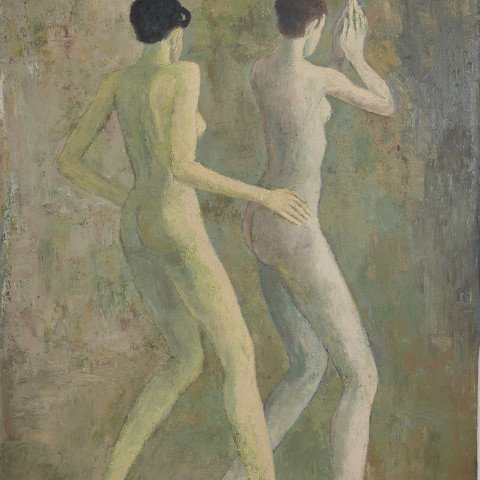 Two Dancing Women by Ken Nevadomi