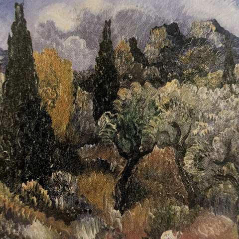 Paul Kleinschmidt - Landscape with Cypress Trees, 1937