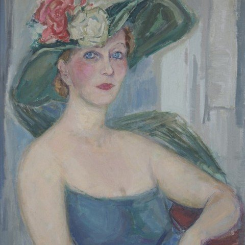 Rose Kuper - Woman with Floral Hat