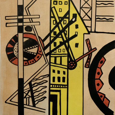 Study for Les Illuminations: Villes I by Fernand Léger