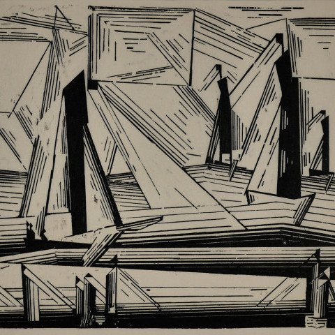 Fishing Boats by Lyonel Feininger
