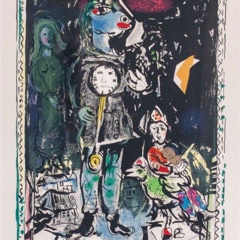 Marc Chagall - Paysan avec une Horloge