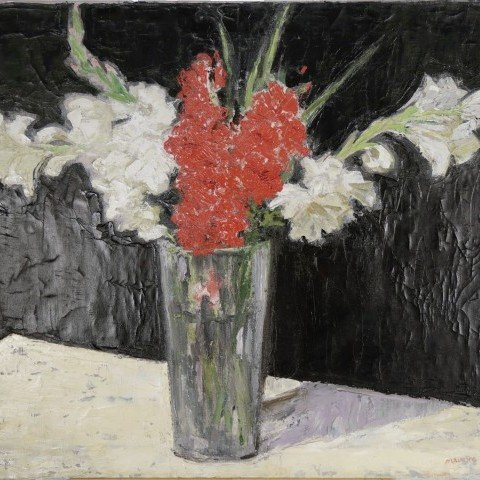 Still Life with Gladiolas by Maurice Logan