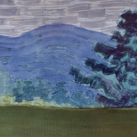 Milton Clark Avery - Purple Mountain Landscape