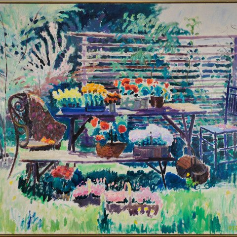 Backyard Landscape by Joseph Benjamin O'Sickey