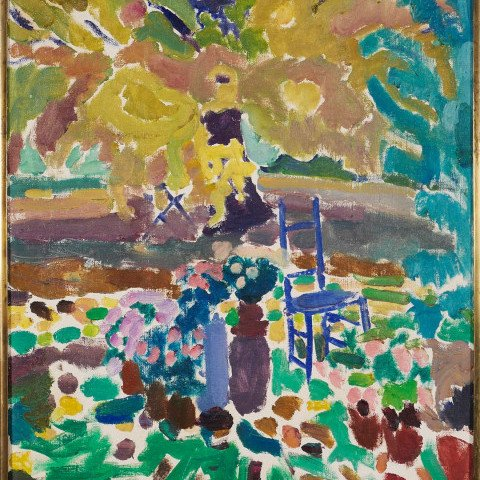 Landscape with Blue Chair by Joseph Benjamin O'Sickey