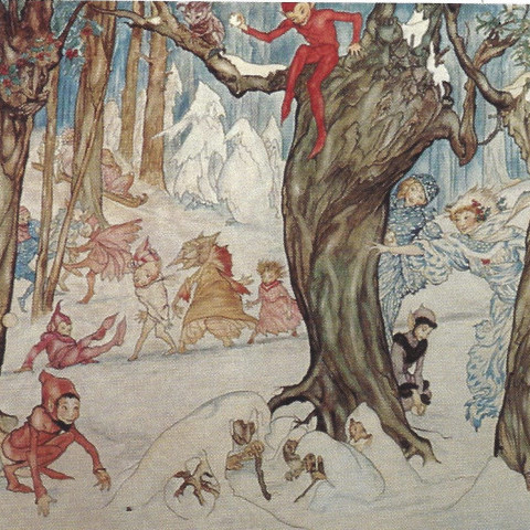Winter Frolic by Arthur Rackham