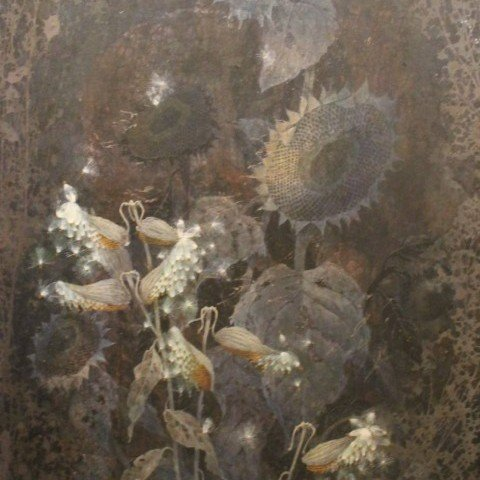 Still Life with Sunflowers and Milkweed Pods