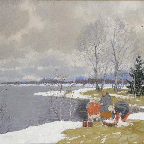Andrei Afanasievich Egorov-Russian Washerwomen
