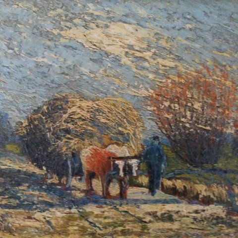 The Hay Wagon by Sandor Vago