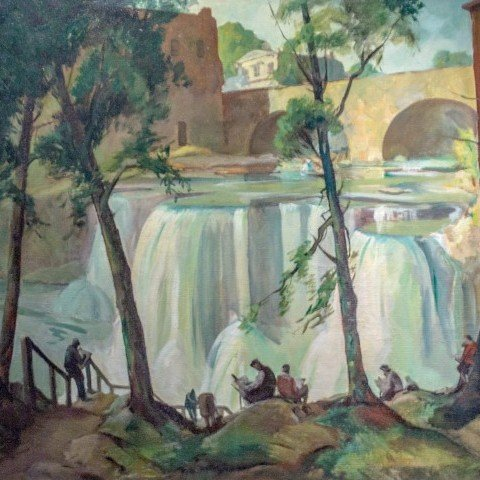 Carl Frederick Gaertner - Saturday at Chagrin Falls - 1931