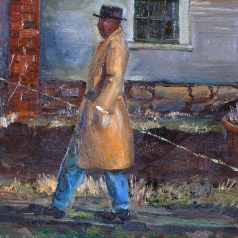 Clyde Singer - Man with Fishing Pole