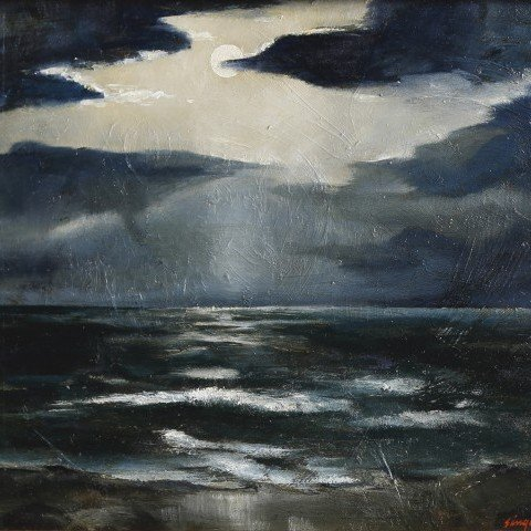 Clyde Singer (American, 1908 - 1999) - Night Beach