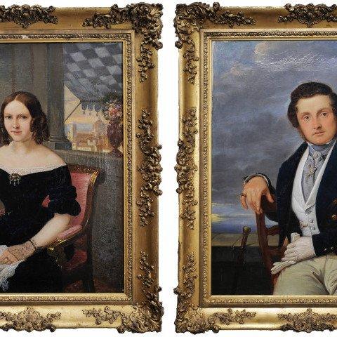 Portrait of Husband and Wife by Sir John Watson Gordon