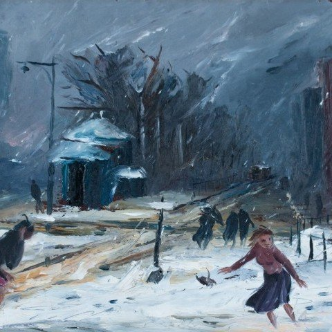Louis Bosa - Snow Storm, New York City