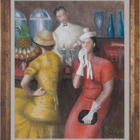 3 After William Glackens (American, 1870–1938)  - Soda Fountain, 1935