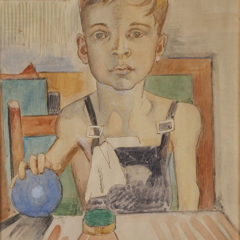 Young Boy Seated at Table by William Sommer