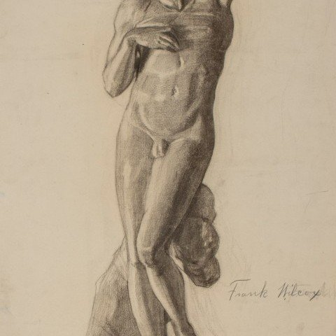 Study of Sculpture - Michelangelo's Dying Slave