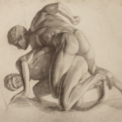 Study of Sculpture - The Wrestlers
