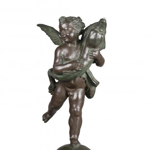 Bronze After Andrea del Verrochio, Putto with a Dolphin