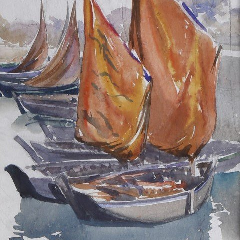 Boats off Concarneau, France