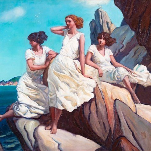 Three Girls on the Rocks (Sirens)