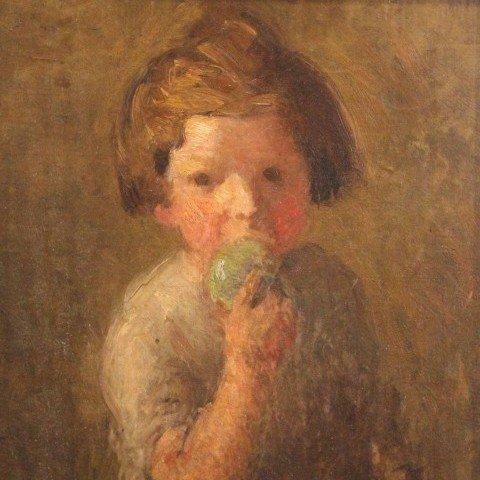 Boy Eating an Apple