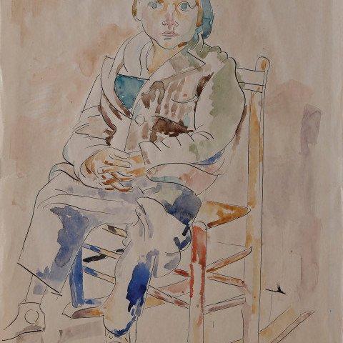 Boy Rocking by William Sommer