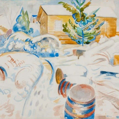 Winter, Brandywine by William Sommer