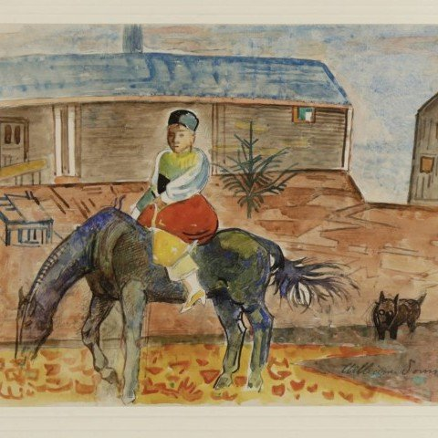 William Sommer - Horse and Rider