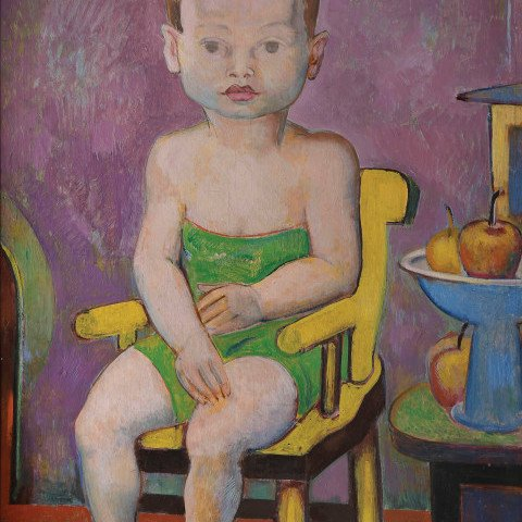 Young Girl in High Chair by William Sommer