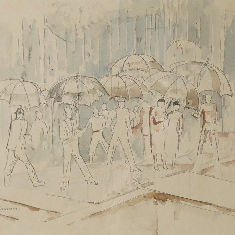 Rainy Day by William Sommer