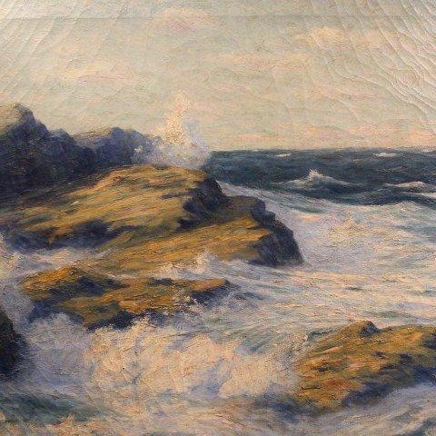 William Reuben Clark Wood-Crashing Surf