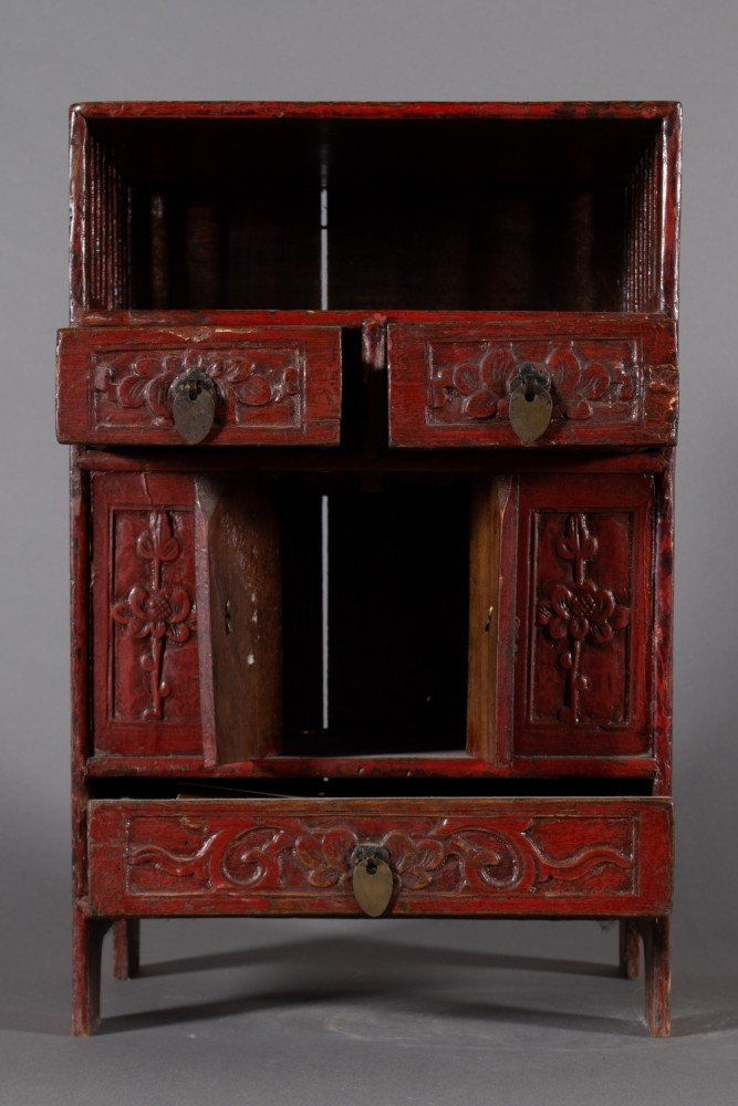 19th Century Diminutive Chinese Lacquer Etagere