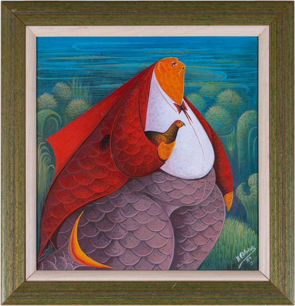 Fish Man with Guinea Fowl